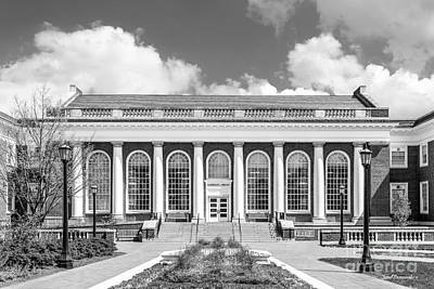 University Of Virginia Alderman Library Art Print by University Icons