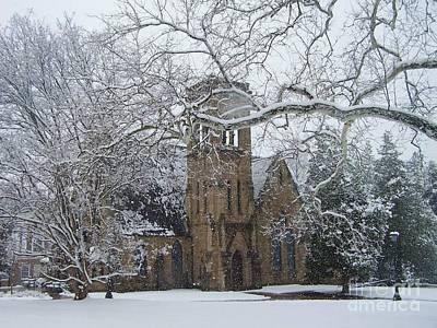 University Of Virginia Chapel Print by Charlotte Gray