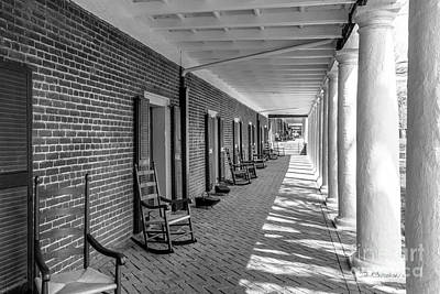 University Of Virginia The Lawn Rooms Art Print by University Icons