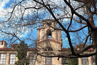 Photograph - University Tower Mason Hall - Pomona College - Framed By Trees by Matt Harang