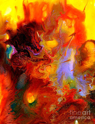 Contemplative Painting - Universo II by Blanca Medina