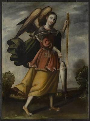 Raphael Archangel Painting - Unknown Archangel Raphael by MotionAge Designs