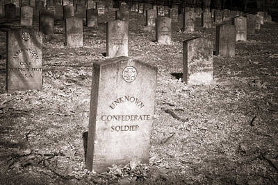 Unknown Confederate Soldier In Sepia Art Print