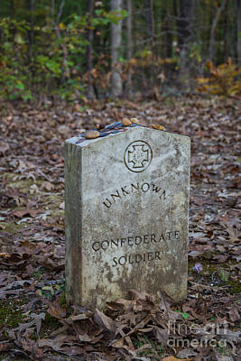 Unknown Confederate Soldier - Natchez Trace Art Print by Debra Martz
