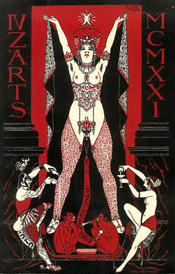 Orgy Painting - Unknown by Poster for the 1924 Ecole nationale superieure des Beaux-Arts Paris annual ball