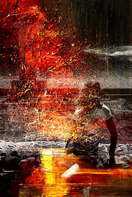 Digital Art - Unknown Red by Andrea Barbieri