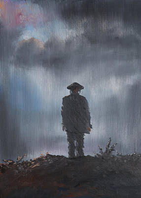 Verdun Painting - Unknown Soldier by Vincent Alexander Booth