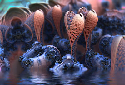 Digital Art - Unknown Species by Hal Tenny