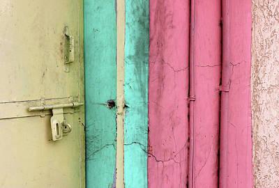 Photograph - Unlatched Yellow Door by Prakash Ghai
