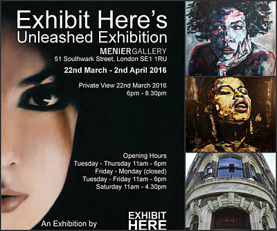 Painter Mixed Media - Unleashed Exhibition, March 2016 by Christel Roelandt