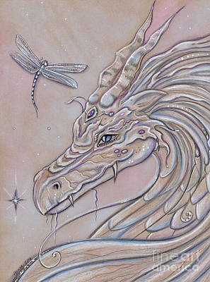 Dragon Drawing - Unlikely Friends by Renee Lavoie