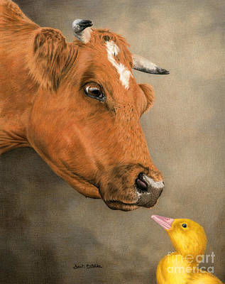 Ducklings Painting -  Friends Come In All Sizes by Sarah Batalka