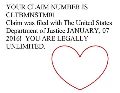 Photograph - Unlimited Claim Number by Catherine Lott