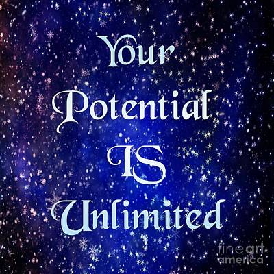 Digital Art - Unlimited Potential  by Rachel Hannah