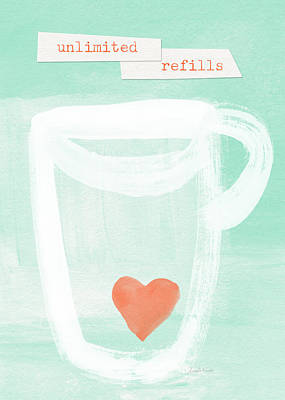 Unlimited Refills- Art By Linda Woods Art Print