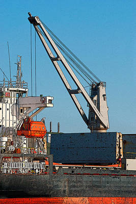 Photograph - Unloading by WB Johnston