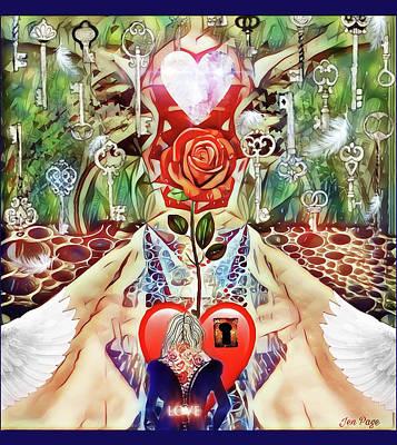 Digital Art - Unlock Love by Jennifer Page