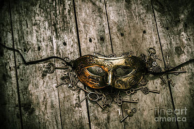 Masks Photograph - Unlocking A Golden Mystery by Jorgo Photography - Wall Art Gallery