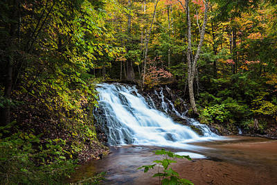 Photograph - Unnamed Morgan Falls by Jill Laudenslager