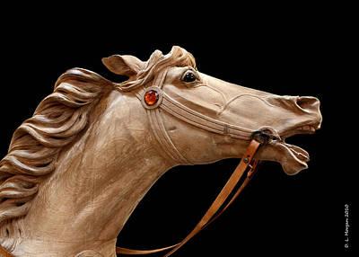 Unpainted Antique Carousel Horse Original