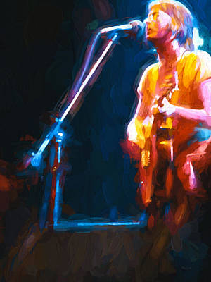 Acoustic Guitar Painting - Unplugged by Bob Orsillo