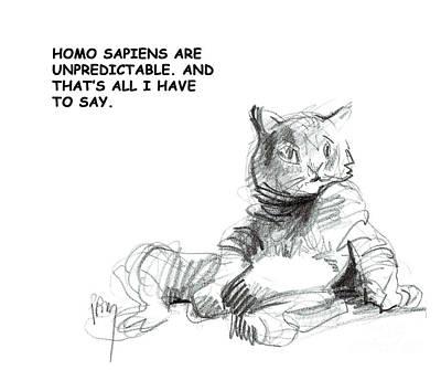 Digital Art - Unpredictable Cat by Paul Miller