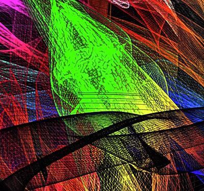 Digital Art - Unraveled 1 Version 2 by Kristalin Davis