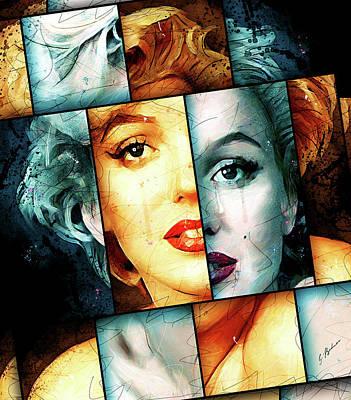 Actors Digital Art - Monroe  by Gary Bodnar