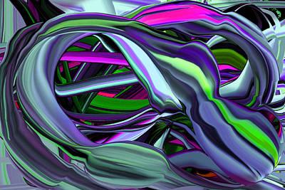 Digital Art - Unraveling Pods by Phillip Mossbarger