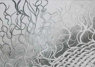Fading Drawing - Unravelling by Samantha Whitten