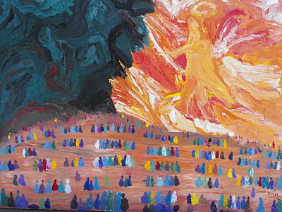 Sermon On The Mount Painting - Unseen Battle by Ginger Repke