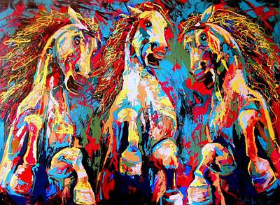 Drip Painting - Untamed- Large Work by Angie Wright