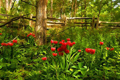 Untamed Tulip Forest - Impressions Of Spring Art Print