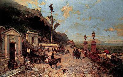 Unterberger Franz Richard La Strada Monreale Palermo Art Print