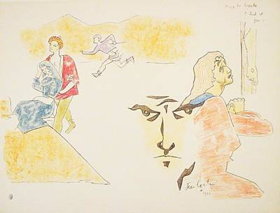 Mourlot Painting - Untitled 13 by Jean Cocteau