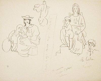 Mourlot Painting - Untitled 15 by Jean Cocteau