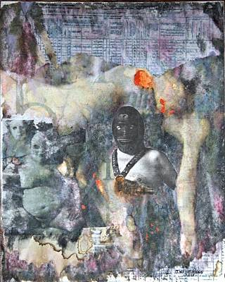 Male Nude Mixed Media - Untitled, 2015 by Wayne Higgs