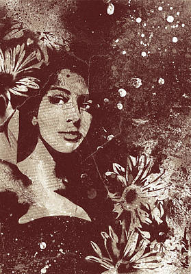 Stencil Art Painting - untitled #28914 - Amaranth by Marco Paludet