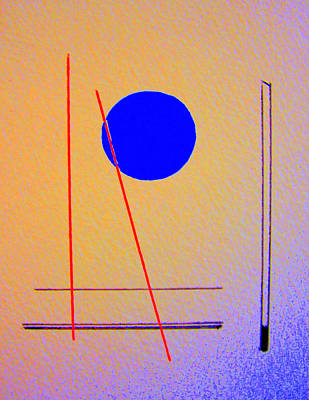 Circumference Drawing - Untitled 3 by Rene Avalos