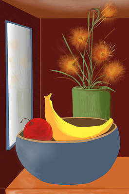 Digital Art - untitled 9 Floral and Fruit by Denny Casto