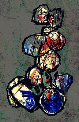 Digital Art - untitled abstract March 21 2015 by Jim Vance