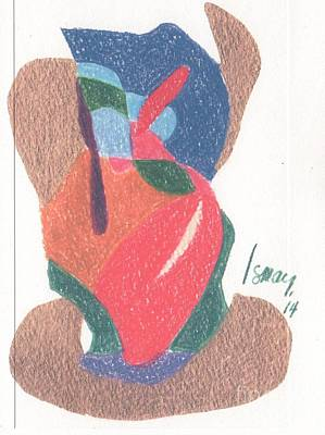 Drawing - Untitled Abstract by Rod Ismay