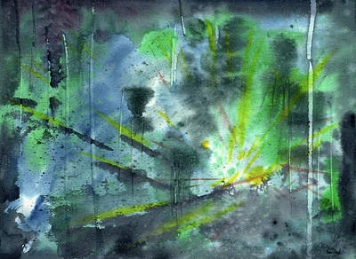 Untitled Abstract Watercolor Art Print by Sean Seal