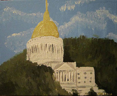 Capitol Building Painting - Untitled  by Alexandra Mallory