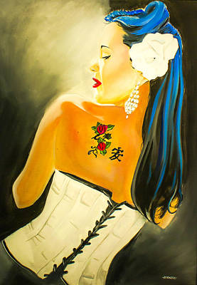 Painting - Untitled Beauty  by Chris  Leon