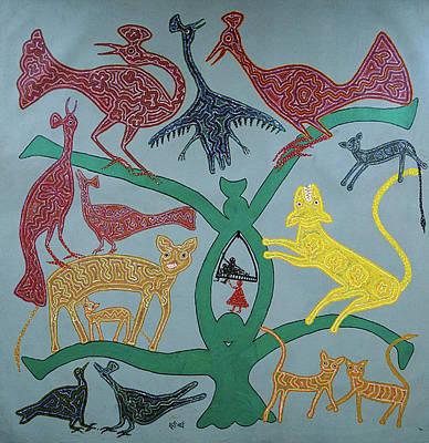 Bhuri Bai Painting - Untitled by Bhuri Bai