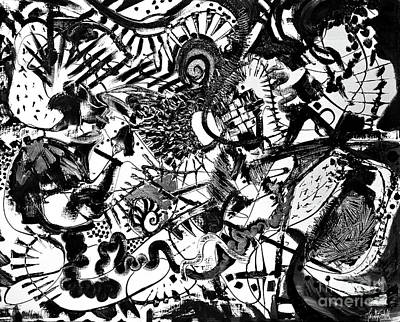 Painting - untitled Black and white by Expressionistart studio Priscilla Batzell