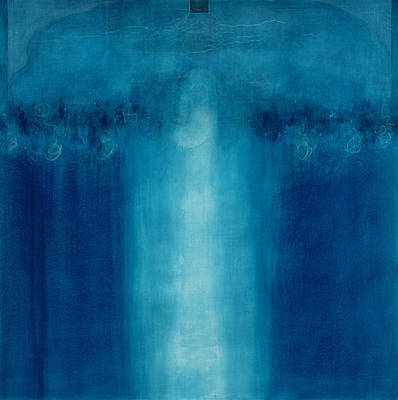 Abstractions Painting - Untitled Blue Painting by Charlie Millar
