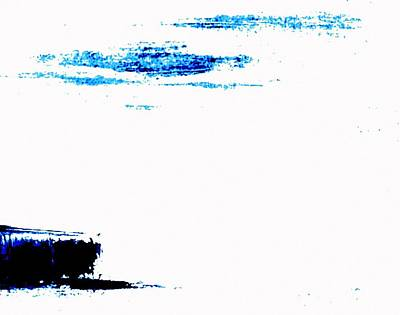 Painting - Untitled Blue White by VIVA Anderson