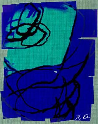 Untitled Blues 21 2 Art Print by Rene Avalos